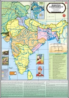 Maratha Confederacy (Downfall of Mughals) Map