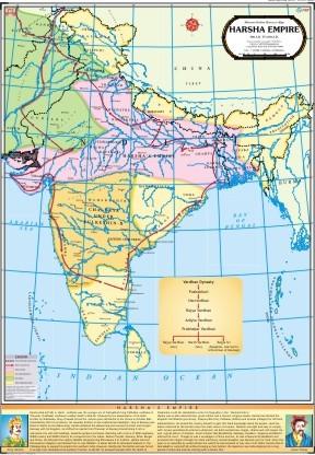Harsha Empire Map