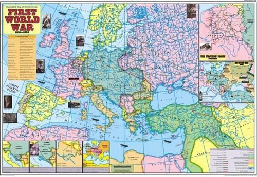 First World War(1914 - 1918) Map