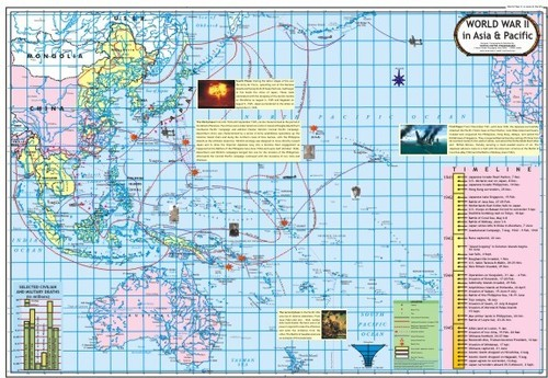 World War 2 in Pacific & Asia Map