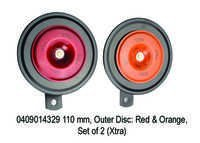 XT 4329 110 mm, Outer Disc Red & Orange, Set of 2