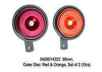 90 mm,Outer Disc Red & Orange, Set of 2 (Xtra)