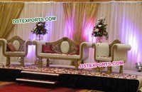 Wedding Stage Carving Sofa Set