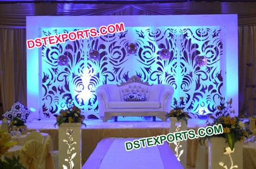 Indian Wedding Stylish Backdrop Decoration