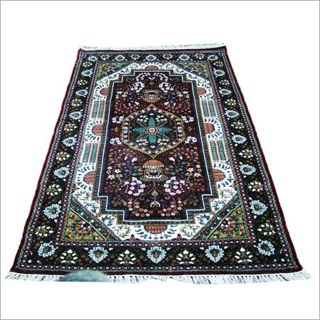 Handmade Art Silk Staple Carpets