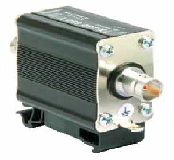 Lightning current arrester for coaxial line BNC connectors