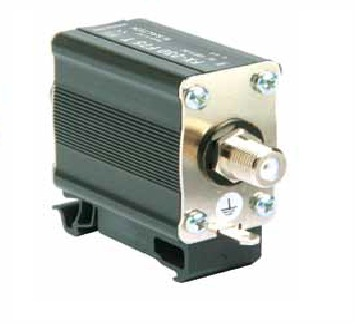 Lightning current arrester for coaxial line F connectors