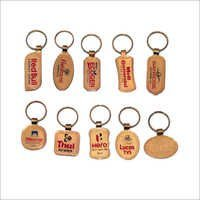 metal golden printing keyring