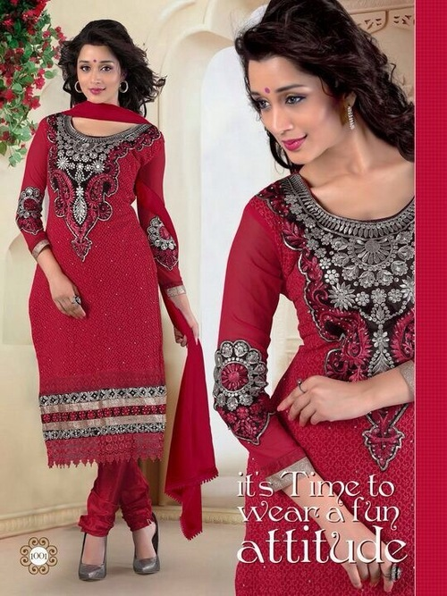 Latest Red Anarkali Suits