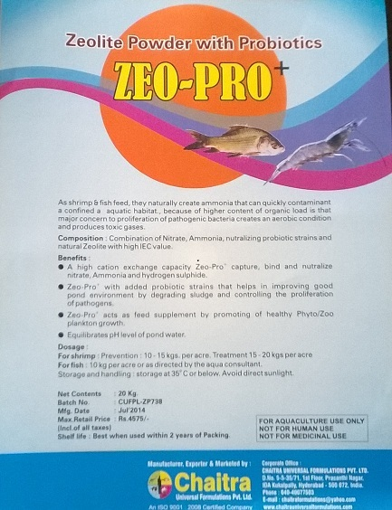 Zeolite Powder with Probiotics for Aqua