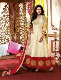 Cream Brasso Designer Salwar Kameez