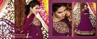 Purple Georgette Designer Salwar Kameez