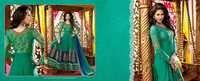 Green Crepe Designer Salwar Kameez
