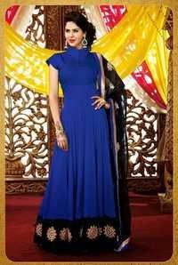 Blue Georgette Designer Salwar Kamee