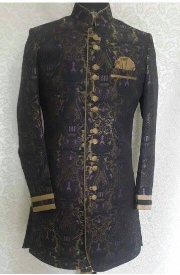 Brocade Fabric Sherwani