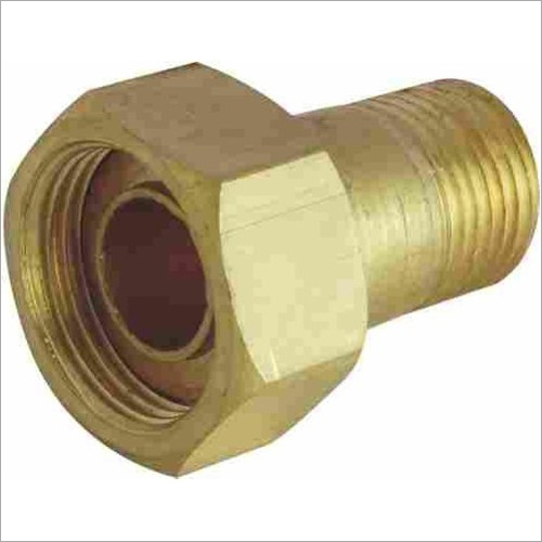 brass water meter nut nipple