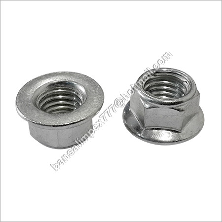 Steel Lock Flange Nut DiN 6927