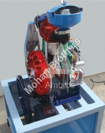 4 Stroke 1 Cylinder Diesel Engine - Section Model