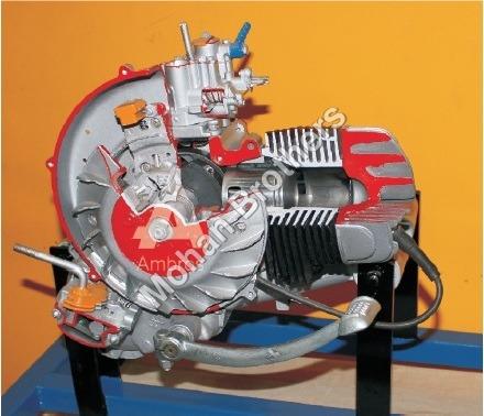 2 Stroke 1 Cylinder Petrol Engine - Section Model