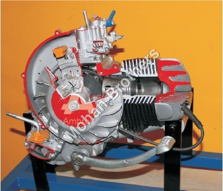 2 Stroke 1 Cylinder Petrol Engine