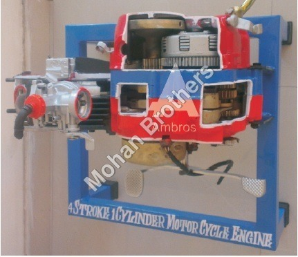4 Stroke 1 Cylinder Petrol Engine - Section Model