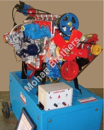 4 Stroke 4/3 Cylinder Petrol Engine -Section Model