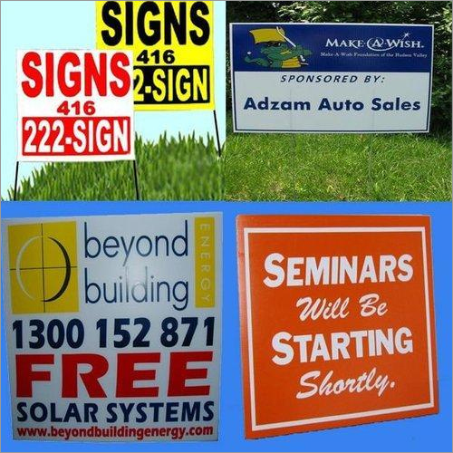 Signs Corrugated Plastic Sheets