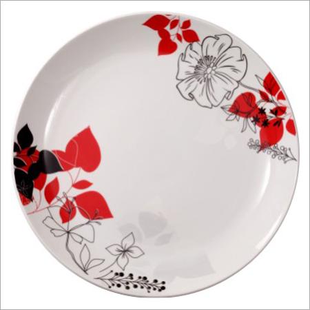 Floral Print Bone China Plates