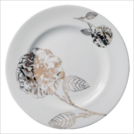 Flower Print Bone China Plates