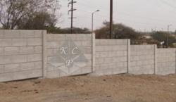 Prestressed Concrete Boundary Wall