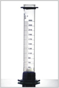Measuring Cylinders, with plastic bases and protection collar Class B