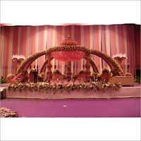 Pooja Stage Flower Decoration