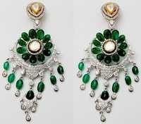 18k pure gold diamond earring supplier