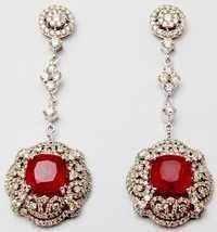 good quality ruby gemstone earring design