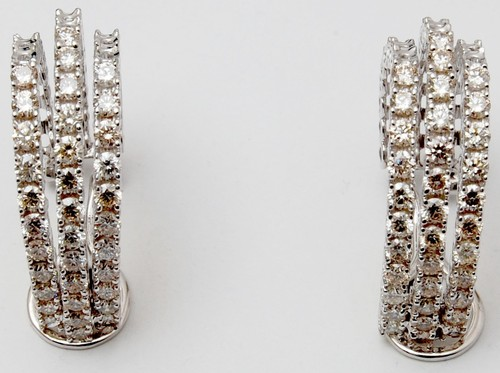 Indian white gold easy-to-maintain earring