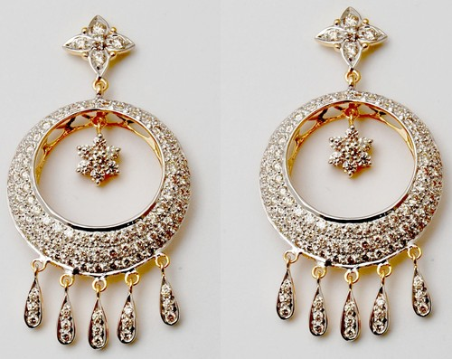 beautifully designed diamond  earring dangler