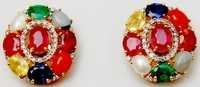 navratan gemstone daily wear earring