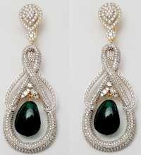party wear long diamond earring manufacturer