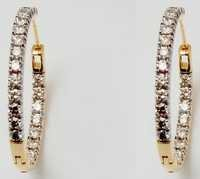 18k yellow gold diamond earring supplier