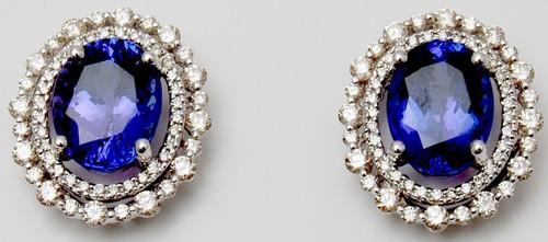 AAA tanzanite stud earring indian exporter