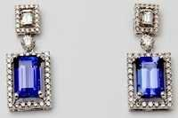 tanzanite gemstone prong setting earring