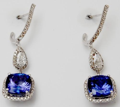 Cushion Cut Prong Setting Gemstone Earring