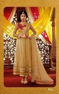 Beige Anarkali Suits