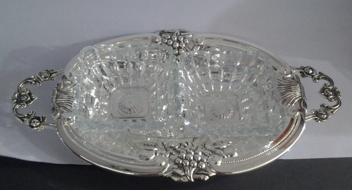 silver plated toffee tray