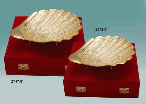 Gold Plated Shell Bowl