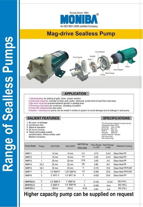 No Seal Pump