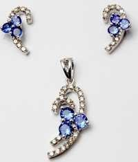 tanzanite gemstone graceful earring pendant