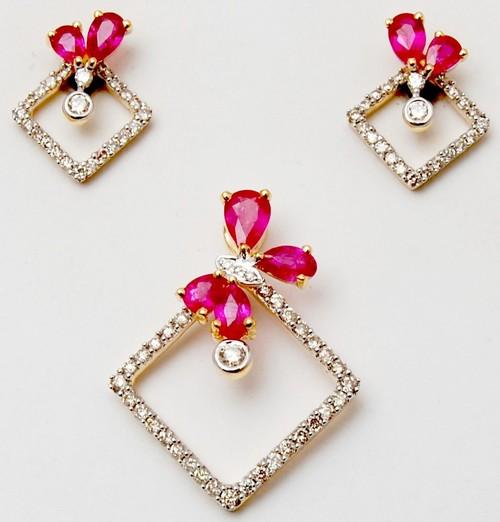 Precious Drop shape Ruby Gemstone Jewellery