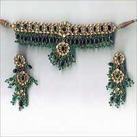Emerald Stone Necklace Set