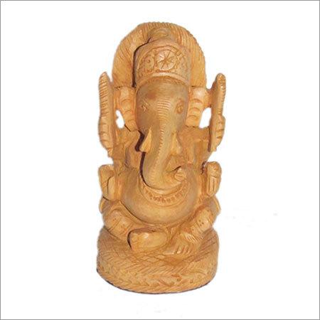 Natural wood Ganesh